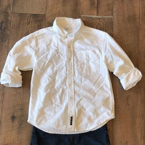 Old Navy white cotton button down. Exc condition